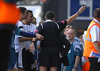 Photo: Ashley Pickering.<br /> Ipswich Town v Derby County. Coca Cola Championship. 14/04/2007.<br /> Derby manager Billy Davies gets sent off by referee Mr I Williamson