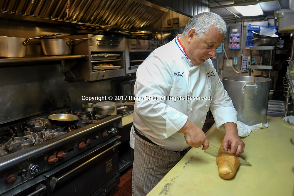 Executive chef Neno Mladenovic at Dan Tana's restaurant in West Hollywood. (Photo by Ringo Chiu)<br /> <br /> Usage Notes: This content is intended for editorial use only. For other uses, additional clearances may be required.
