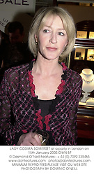 LADY COSIMA SOMERSET at a party in London on 15th January 2002.OWN 57