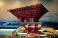 Chine, Shanghai, Expo 2010, exposition universelle, maquette au Centre d Exposition d Urbanisme //  China, Shanghai, Expo 2010, scale model, Shanghai Urban Planning Exhibition Center