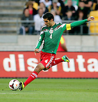 Mexico's Rafael Marquez against New Zealand in the World Cup Football qualifier, Westpac Stadium, Wellington, New Zealand, Wednesday, November 20, 2013.