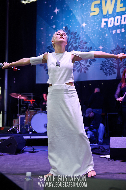 COLUMBIA, MD - April 28th, 2012 -   Zola Jesus performs at the 2012 Sweetlife Food and Music Festival at Merriweather Post Pavilion in Columbia, MD.  (Photo by Kyle Gustafson/For The Washington Post)