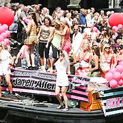 NLD/Amsterdam/20080802 - Canal Parade 2008 Amsterdam, boot Jantjes verjaardag en Fata Morgana