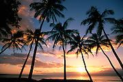 Sunset, Lahaina, Maui, Hawaii, USA<br />