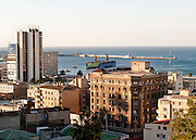 View of the city port of Chile, Valparaiso