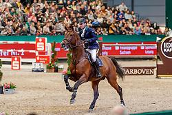LYNCH Denis (IRL), Cristello<br /> Leipzig - Partner Pferd 2020<br /> Championat von Leipzig<br /> Springprfg. mit Stechen, international<br /> Höhe: 1.50 m<br /> 18. Januar 2020<br /> © www.sportfotos-lafrentz.de/Stefan Lafrentz