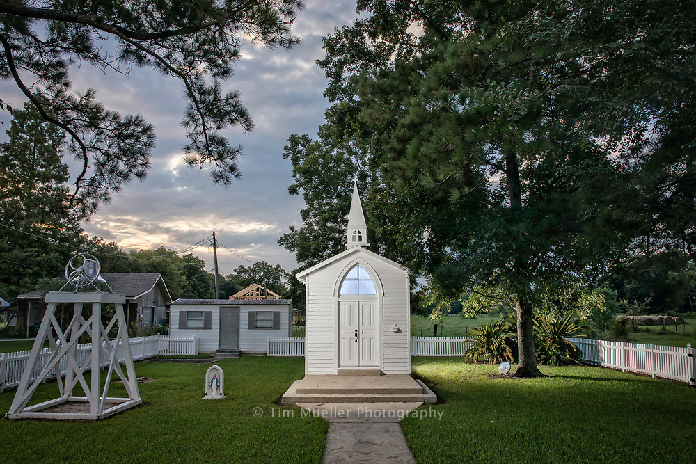 The Madonna Chapel, south of Plaquemine in Iberville Parish, is known as the smallest church in the world. The chapel was built with lumber donated by area residents on landed donated by Anthony Gullo in 1903. It is only eight feet square and was built as a tribute to the Blessed Mother. The chapel hosts a Mass Aug. 15 each year in celebration of the Assumption of the Blessed Mother.