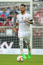 04.08.2015, Allianz Arena, Muenchen, GER, AUDI CUP, Real Madrid vs Tottenham Hotspur, im Bild Sergio Ramos (Real Madrid CF #4) // during the 2015 Audi Cup Match between Real Madrid and Tottenham Hotspur at the Allianz Arena in Muenchen, Germany on 2015/08/04. EXPA Pictures © 2015, PhotoCredit: EXPA/ Eibner-Pressefoto/ Schueler<br /> <br /> *****ATTENTION - OUT of GER*****