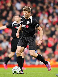 Steven Gerrard in action - Photo mandatory by-line: Dougie Allward/JMP - Mobile: 07966 386802 - 29/03/2015 - SPORT - Football - Liverpool - Anfield Stadium - Gerrard's Squad v Carragher's Squad - Liverpool FC All stars Game
