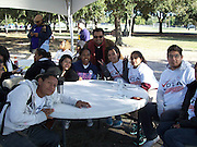 Close to 30 Sharpstown International School students volunteered with MI FAMILIA VOTA at Bayland Park to go door to door encouraging the community to vote and make a difference.
