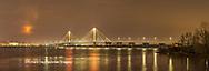 63895-15906 Clark Bridge at night Alton IL