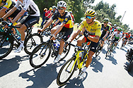 Greg Van Avermaet (BEL - BMC) Yellow Jersey, Yves Lampaert (BEL - QuickStep - Floors) during the 105th Tour de France 2018, Stage 8, Dreux - Amiens Metropole (181km) on July 14th, 2018 - Photo Luca Bettini / BettiniPhoto / ProSportsImages / DPPI