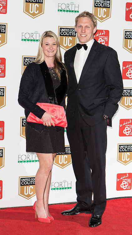 © Licensed to London News Pictures . 27/03/2014 . Manchester , UK . Lewis Moody MBE arrives at a gala dinner at Manchester United Football Club in support of United for Colitis , in aid of Crohn's And Colitis UK . Photo credit : LNP