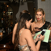 Claudia Sowaha and Lilly Douse Bachelor girls contestant attend The Bachelor UK 2019 launch night - The girls private screening on Channel 5 at Beach Blanket Babylon on 4 March 2019, London, UK