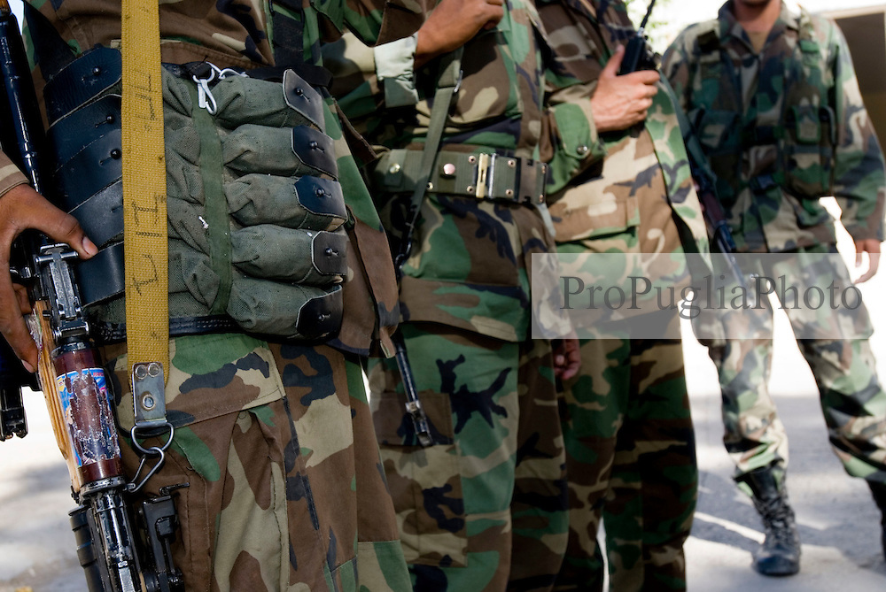 Helmand Province, Lashkargah City..Soldiers of the Afghan National Army.