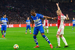 13-03-2019 NED: Ajax - PEC Zwolle, Amsterdam<br /> Ajax has booked an oppressive victory over PEC Zwolle without entertaining the public 2-1 / Kingsley Ehizibue #20 of PEC Zwolle, Donny van de Beek #6 of Ajax