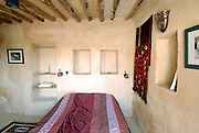 Israel, Negev, Shivta, Interior of a modern house built from local material using traditional building methods