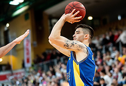 Nik Dragan of Hopsi Polzela during basketball match between KK Sixt Primorska and KK Hopsi Polzela in final of Spar Cup 2018/19, on February 17, 2019 in Arena Bonifika, Koper / Capodistria, Slovenia. Photo by Vid Ponikvar / Sportida