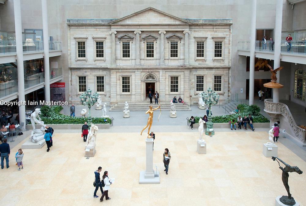The Charles Engelhard Court  at Metropolitan Museum of Art in Manhattan , New York City, USA