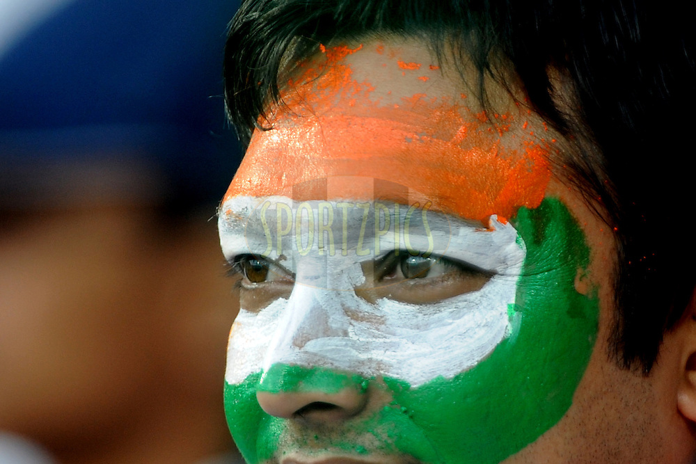 An Indian spectator during the ICC Cricket World Cup match between India and England held at the M Chinnaswamy Stadium in Bengaluru, Bangalore, Karnataka, India on the 27th February 2011..Photo by Pal Pillai/BCCI/SPORTZPICS
