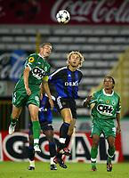 Fotball<br /> Belgisk Super-Cup<br /> 02.08.2003<br /> Brugge v La Louviere<br /> NORWAY ONLY<br /> Foto: Digitalsport<br /> Bengt Sæternes<br /> <br /> BRUGGE 02/08/2003<br />SUPER COUPE-SUPER BEKER-SUPER CUP<br />CLUB BRUGGE-LA LOUVIERE<br />THIERRY SIQUET-BENGT SAETERNES-YANNICK VERVALLE<br />PICTURE PHILIPPE CROCHET<br />©PHOTO NEWS