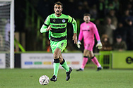 Forest Green Rovers Farrend Rawson(6) runs forward during the The FA Cup 1st round replay match between Forest Green Rovers and Oxford United at the New Lawn, Forest Green, United Kingdom on 20 November 2018.