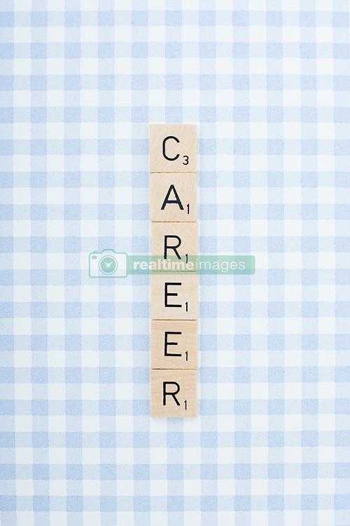 Dec. 04, 2012 - Game tile letters spelling career (Credit Image: © Image Source/ZUMAPRESS.com)