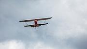1929 Brunner Winkle Bird A, owned earlier by Melba Beard - charter member of the 99s - then inherited by Arlene Beard, flying.