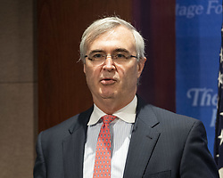 October 9, 2018 - Washington, DC, U.S - JOHN MALCOLM, Vice President, Institute for Constitutional Government, speaking at the Heritage Foundation in Washington, DC on September 9, 2018. (Credit Image: © Michael Brochstein/ZUMA Wire)