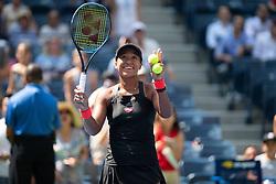 September 5, 2018 - Naomi Osaka of Japan after reaching the semi-final at the 2018 US Open Grand Slam tennis tournament. New York, USA. September 05, 2018. (Credit Image: © AFP7 via ZUMA Wire)