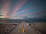 Sunset colors above the Busselton Pier in Western Australia. Licensing and Editions of 17