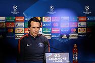 Paris Saint Germain's Spanish coach Unai Emery attends the Paris Saint-Germain press conference before the UEFA Champions League football match between Paris Saint-Germain and Bayern Munich on September 26, 2017 at the Parc des Princes stadium in Paris, France - Photo Benjamin Cremel / ProSportsImages / DPPI