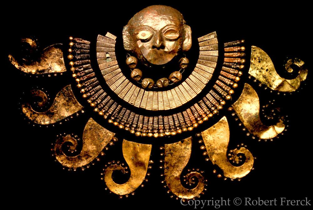 PERU, PREHISPANIC, GOLD Mochica; Lord of Sipan mask