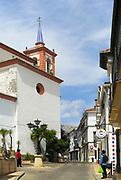 Church historic village of Cortes de la Frontera, Serrania de Ronda, Malaga province, southern Spain