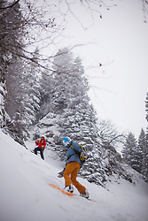 Skiing and snowboarding off piste