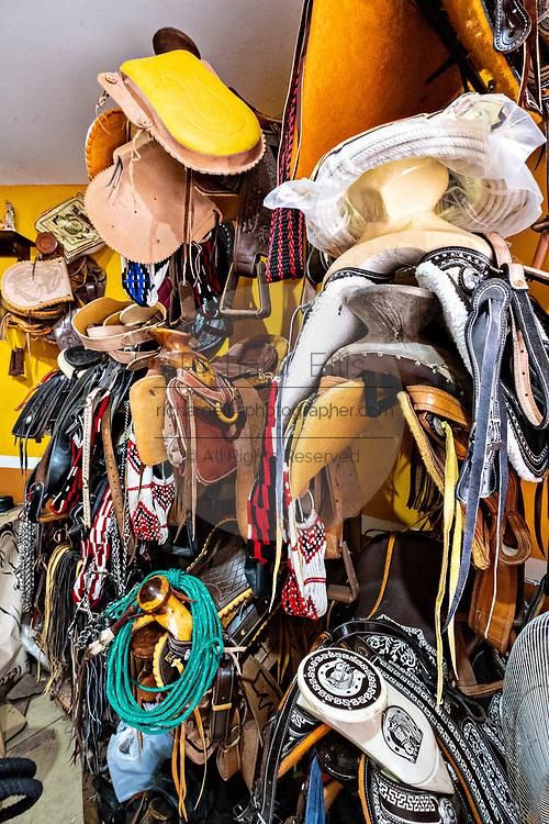 A saddle maker shop in Santiago Tuxtla, Veracruz, Mexico.