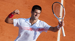 16.04.2010, Country Club, Monte Carlo, MCO, ATP, Monte Carlo Masters, im Bild Novak Djokovic (SRB), jubelt, EXPA Pictures © 2010, PhotoCredit: EXPA/ M. Gunn / SPORTIDA PHOTO AGENCY