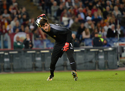 October 25, 2017 - Rome, Italy - Alisson Becker during the Italian Serie A football match between A.S. Roma and F.C. Crotone at the Olympic Stadium in Rome, on october 25, 2017. (Credit Image: © Silvia Lore/NurPhoto via ZUMA Press)