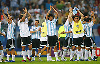 Fotball<br /> VM 2006<br /> Foto: Witters/Digitalsport<br /> NORWAY ONLY<br /> <br /> 10.06.2006<br /> Argentina v Elfenbenskysten<br /> <br /> Schlussjubel Argentinien<br /> Fussball WM 2006 Argentinien - Elfenbeinkueste 2:1