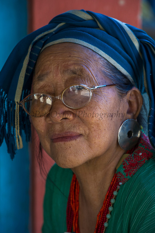 Nyshi woman<br /> Nyshi Tribe<br /> Arunachal Pradesh<br /> North East India