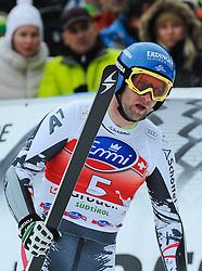 20.12.2013, Saslong, Groeden, ITA, FIS Ski Weltcup, Groeden, Herren, SuperG, im Bild Romed Baumann (AUT) // Romed Baumann of Austria reacts at the finish area during mens Super-G of the Groeden FIS Ski Alpine World Cup at the Saslong Course in Gardena, Italy on 2012/12/20. EXPA Pictures © 2013, PhotoCredit: EXPA/ Johann Groder