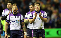 Rugby Union - 2017 Autumn Internationals - Scotland vs. New Zealand<br /> <br /> Byron McGuigan and Huw Jones  of Scotland after the match at Murrayfield.<br /> <br /> COLORSPORT/LYNNE CAMERON