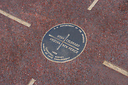 Four Corners medallion, where four states, Colorado, Utah, Arizona, New Mexico touch