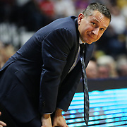 UNCASVILLE, CONNECTICUT- JUNE 5:   Head Coach Curt Miller, Connecticut Sun, reacts to a call during another loss to his side during the Indiana Fever Vs Connecticut Sun, WNBA regular season game at Mohegan Sun Arena on June 3, 2016 in Uncasville, Connecticut. (Photo by Tim Clayton/Corbis via Getty Images)