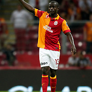 Galatasaray's Dany Nounkeu during their Turkish Super League soccer match Galatasaray between Akhisar Belediyespor at the TT Arena at Seyrantepe in Istanbul Turkey on Sunday 23 September 2012. Photo by TURKPIX