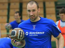 Vid Kavticnik at practice of Slovenian handball men national team before going to Israel, on October 27, 2008 in Lasko, Slovenia. (Photo by Vid Ponikvar / Sportal Images)