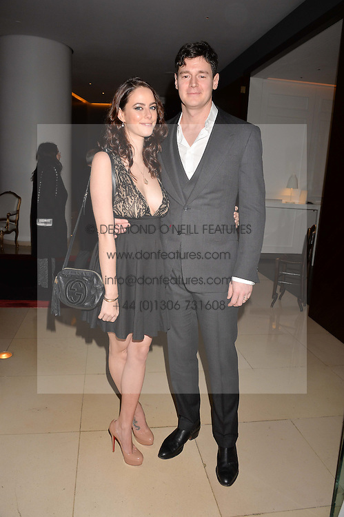 Kaya Scodelario and husband Benjamin Walker at the Giselle Premier VIP Party, St.Martin's Lane Hotel, London England. 11 January 2017.
