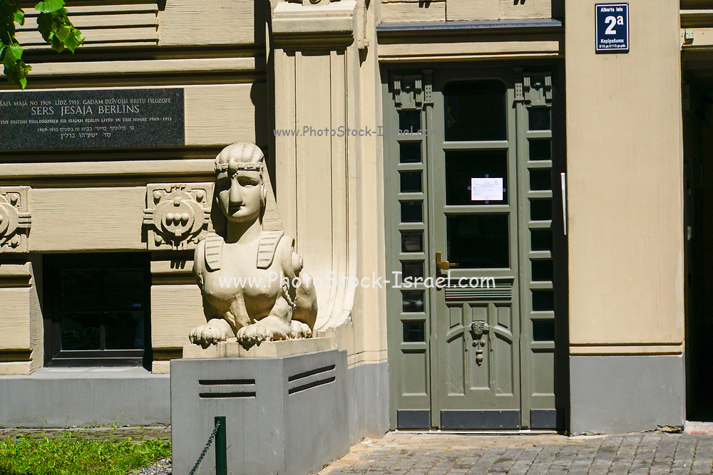 Latvia, Riga, the modern city, Art Nouveau in 2 Alberta iela Street