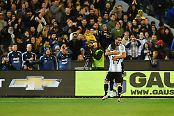 June 9, 2017 - Melbourne, Victoria, Australia - GABRIEL MERCADO (2) of Argentina celebrates his goal in an international friendly match between Brazil and Argentina at the Melbourne Cricket Ground on June 10, 2017 in Melbourne, Australia. Argentina won 1-0 (Credit Image: © Sydney Low via ZUMA Wire)