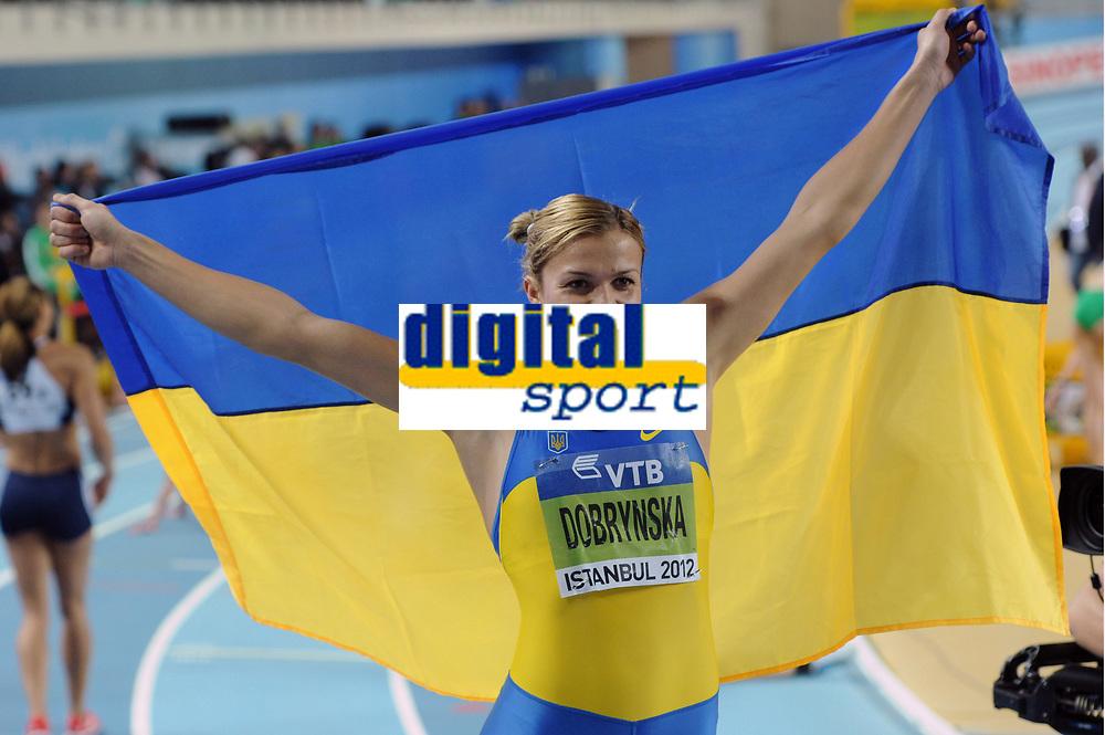 ATHLETICS - WORLD CHAMPIONSHIPS INDOOR 2012 - ISTANBUL (TUR) 09 to 11/03/2012 - PHOTO : STEPHANE KEMPINAIRE / KMSP / DPPI - <br /> PENTATHLON - WOMEN - SILVER MEDAL - NATALIA DOBRYNSKA (UKR)
